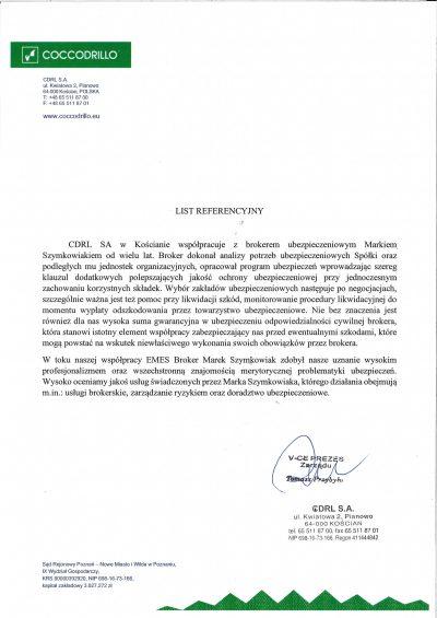 List referencyjny CDRL